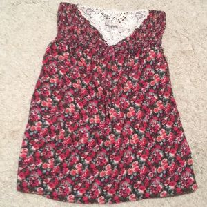 🌸floral strapless top🌸